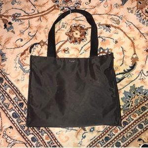 Black canvas Kate Spade large tote/diaper bag
